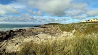 LIttle Fistral Beach at Newquay in Cornwall