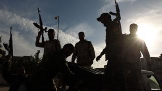 Fighters loyal to Gen Khalifa Haftar in Libya, 2014