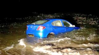 Car in water in Essex