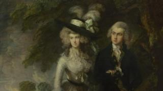 Mr and Mrs. Hallett or The morning walk, by Thomas Gainsborough