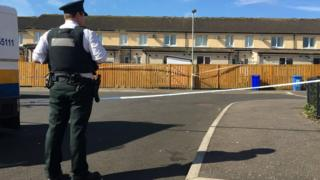 The man was shot in on Monday evening