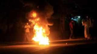 Sudan'ın başkenti Hartum'daki protesto gösterileri
