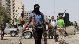 Imigwi irwanya leta ya Syria ibandanije kutana mu mitwe ku murwa mukuru Damas