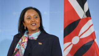 Waziri wa maswala ya nchi za kigeni Kenya Amina Mohammed