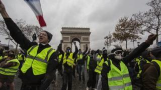 Protesta en París
