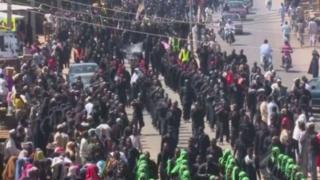 Shia protesters in Kaduna, Nigeria