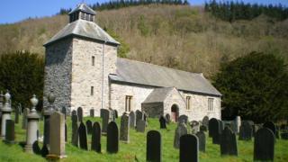 St Melangell's Church near Pennant Melangell in Powys