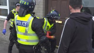 Police raid in Fraserburgh