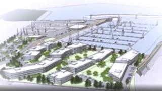 An artist impression of the proposed marina development