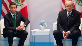 Peña Nieto y Trump en el photo op