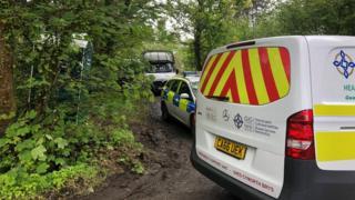 Emergency services remain near Trimsaran