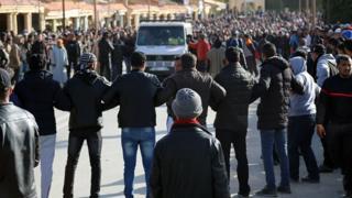 Les jeunes rendent hommage à un des leurs tué dans une mine à Jerada.