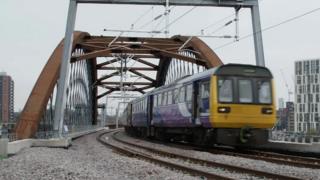 train through bridge