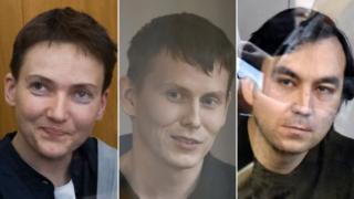 Nadiya Savchenko, Yevgeny Yerofeyev and Alexander Alexandrov