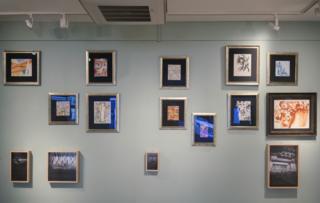 """Верхні ряди - картини українських авангардистів, нижній ряд - роботи Микити Кадана """"Зауваження про архіви"""""""