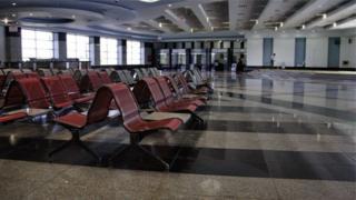 Empty Sharm el Sheikh airport