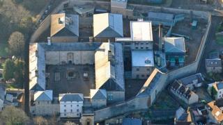 Aerial view of Shepton Mallet prison