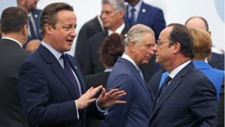 David Cameron joined world leaders at the start of the Paris talks