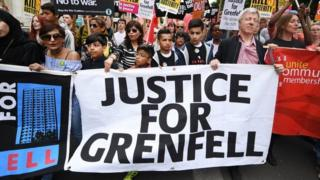 Grenfell protesters