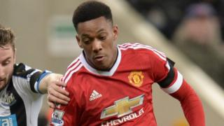 Anthony Martial clocked 22 miles per hour on the pitch last night