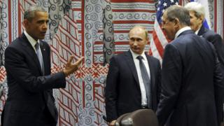 Obama with Putin, Lavrov, Kerry