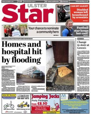 Front page of the Ulster Star
