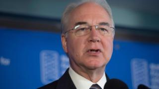 US Secretary of Health and Human Services Tom Price