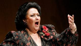 Spanish soprano Montserrat Caballe performs during a concert in Santander in 2006