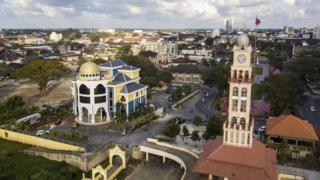 鸟瞰吉兰丹首府哥打巴鲁。