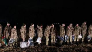 Визволені з полони українські військові