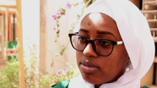 Une étudiante mauritanienne.