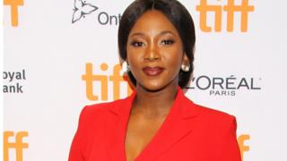 Director Genevieve Nnaji at the premiere of Lionheart