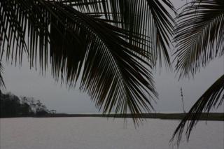 Vista del campamento militar nicaragüense desde la laguna Los Portillos.