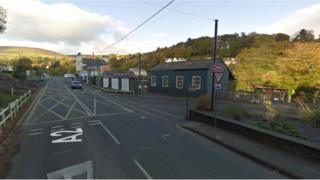 Laxey tram crossing
