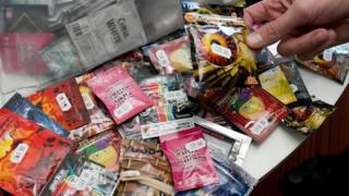 a collection of confiscated legal highs