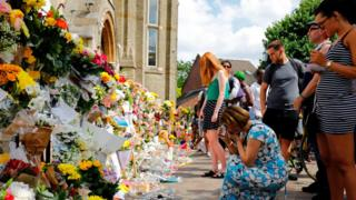 Mourners pay tribute at Notting Hill Methodist Church