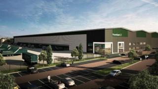 Image of plan for Poundland ditribution centre