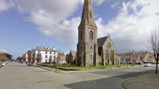 Silloth town lies on the west coast of Cumbria