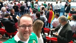 Graeme Neill at the Northern Ireland v Germany game