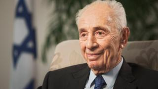 File photo of Shimon Peres (2 November 2015)