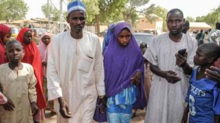 Une fille de Dapchi libérée le 21 mars dernier.