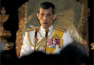 This file photo taken on 21 January 2008 shows Thai Crown Prince Maha Vajiralongkorn reading statements during the opening session of the parliament at Parliament House in Bangkok.
