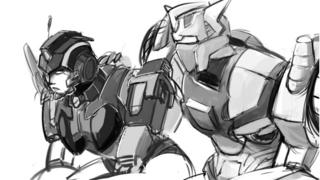 Nautica and Chromedome drawn by More than Meets the Eye fan @Adithehella as part of the #LostLightFest