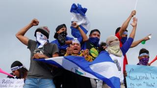 Manifestantes en Niacaragua