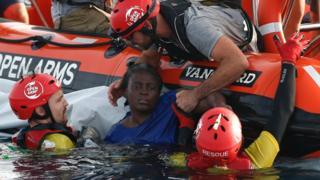 Rescue of migrants, 17 Jul 18