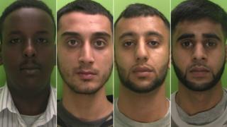 Left to right: Mohamud Alasow, Junaid Farrukh, Mohammed Qasim and Ahmed Qamran
