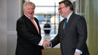 Martin Gilbert, Aberdeen Asset Management (L) and Keith Skeoch, Standard Life