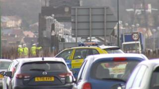 The Kincardine Bridge route has been closed to cars