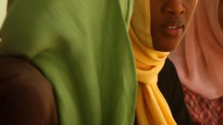 Young women in Sudan, stock image