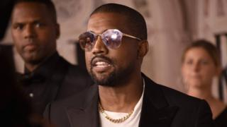 Kanye West at New York Fashion week in September 2018